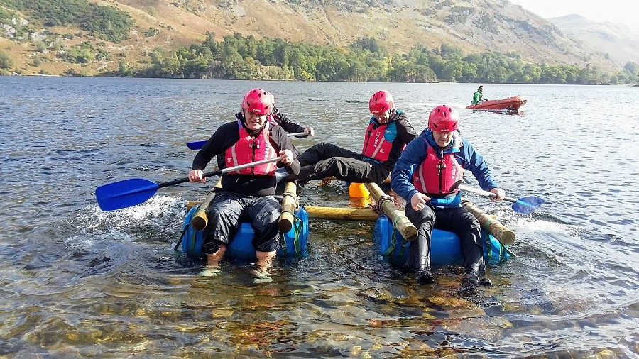 Ullswater raft building session
